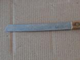 Нож ножик столовый хлебный хлеборез СССР нержавеющая сталь, фото №3