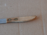 Нож ножик столовый хлебный хлеборез СССР нержавеющая сталь, фото №4