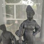 Хозяйка медной горы,Данила-мастер статуэтка ,каминные часы, чугун, фото №3