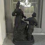 Хозяйка медной горы,Данила-мастер статуэтка ,каминные часы, чугун, фото №7