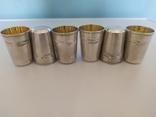 Набор серебряных стопок, фото №5