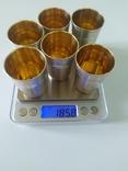 Набор серебряных стопок, фото №8