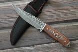 Охотничий нож Дамаск 21.5 cm, фото №2
