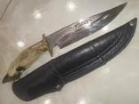 Нож Козья Ножка подкова чехол, фото №3