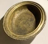 Глубокое блюдо/салатница посеребрённая, фото №2