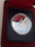 1 доллар, Канада, 1976 г, 100 лет парламентской библиотеке, серебро, в родном футляре, фото №3