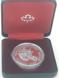 1 доллар, Канада, 1983 г., XII Универсиада в Эдмонтоне, серебро, в родном футляре, фото №2