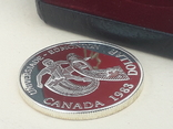 1 доллар, Канада, 1983 г., XII Универсиада в Эдмонтоне, серебро, в родном футляре, фото №4