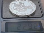 1 доллар, Канада, 1983 г., XII Универсиада в Эдмонтоне, серебро, в родном футляре, фото №7