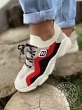Яркие летние кроссовки / бежевые 37 размер, фото №11