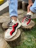 Яркие летние кроссовки / бежевые 37 размер, фото №13