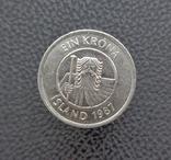 Исландия 1 крона 1987, фото №3