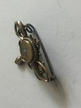 Брошь Золото Doublе с опалом, фото №3