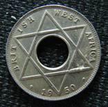 1/10 пенни Западная Африка Георг VI 1950г., фото №2