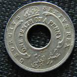 1/10 пенни Западная Африка Георг VI 1950г., фото №3