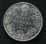 25 центов Канада Георг V 1918г. серебро 925 пробы