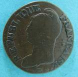 5 сантимов Франция Республика 8 год 1800г.