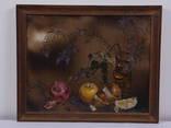 «Вино и фрукты», 1991, 40 * 50см, холст/масло. Апалькова Н.