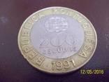 200 ескудо 1991 року. Португалія, фото №2