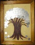 Денежное дерево. Размер 45Х36 см. Авторская работа., фото №3