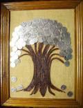 Денежное дерево. Размер 45Х36 см. Авторская работа., фото №4