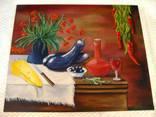 ''Натюрморт с баклажанами''. Холст на картоне, масло. 50х60 см. Хоменко К. photo 2
