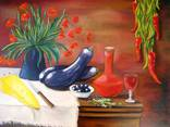 ''Натюрморт с баклажанами''. Холст на картоне, масло. 50х60 см. Хоменко К. photo 3