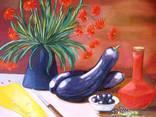 ''Натюрморт с баклажанами''. Холст на картоне, масло. 50х60 см. Хоменко К. photo 5