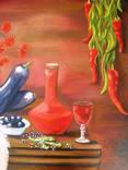 ''Натюрморт с баклажанами''. Холст на картоне, масло. 50х60 см. Хоменко К. photo 6