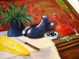 ''Натюрморт с баклажанами''. Холст на картоне, масло. 50х60 см. Хоменко К. photo 8