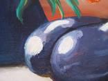 ''Натюрморт с баклажанами''. Холст на картоне, масло. 50х60 см. Хоменко К. photo 9