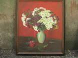 Натюрморт хризантемы и гранат, 80 * 67 см photo 2