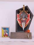 Настольный сувенир, знак МВД., фото №5