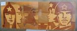 Интарсия, р.41х110, 1967г. «Этапы большого пути», фото №3