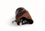 Мешочек для рун из замши / кожи коричневый photo 3