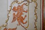 Старинная скатерть с ручной вышивкой - драконы или грифоны. photo 8