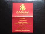 """Рекламный флайер итальянского ресторана """"Padrino"""" (г.Бероун,Чехия) photo 1"""