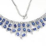 Ожерелье из танзанитов и кианитов, фото №3
