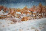 Старый забор - акварельный пейзаж / Old fence - watercolor landscape