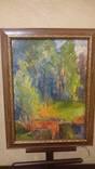 Радужный лес. Курсов 98. Масло. Картон. Профи