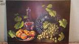 """""""Персики тарілка"""". Підрамнік, полотно, масло. 70х50 см. Бураковський П."""