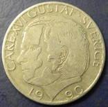 1 крона Швеція 1990, фото №2
