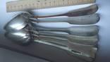 Комплект из 6 столовых ложек(придворного ювелира-Кордеса) серебро 84 пробы, фото №4