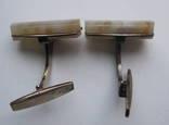Запонки из СССР серебро 875 photo 2