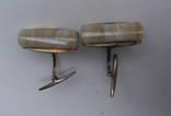 Запонки из СССР серебро 875 photo 10