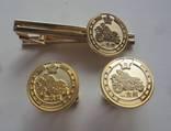Серебряные запонки и зажим, дорожная патрульная полиция Японии., фото №2