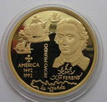 200 эскудо 1992 год ПОРТУГАЛИЯ золото 27,2 грамм 900`