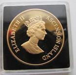 50 пенсов 1995 год остров АСКЕНСИОН (Вознесения) золото 47,54 гр. 917` тираж-150 photo 2