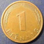 1 пфенінг Німеччина 1991 J, фото №3