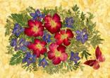 Цветочная фантазия, композиция из засушенных цветов и листьев photo 2